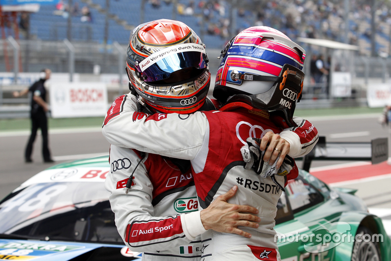 Edoardo Mortara, Audi Sport Team Abt Audi RS 5 DTM and Miguel Molina, Audi Sport Team Abt Audi RS 5 DTM