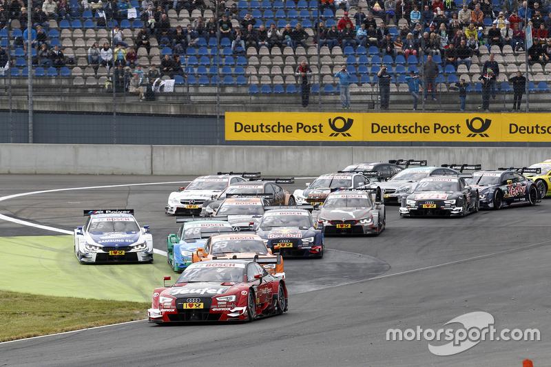 Rennstart: Miguel Molina, Audi Sport Team Abt, Audi RS 5 DTM, in Führung