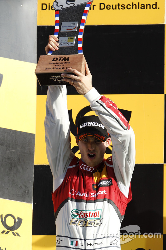 Podium: 2nd Edoardo Mortara, Audi Sport Team Abt Audi RS 5 DTM