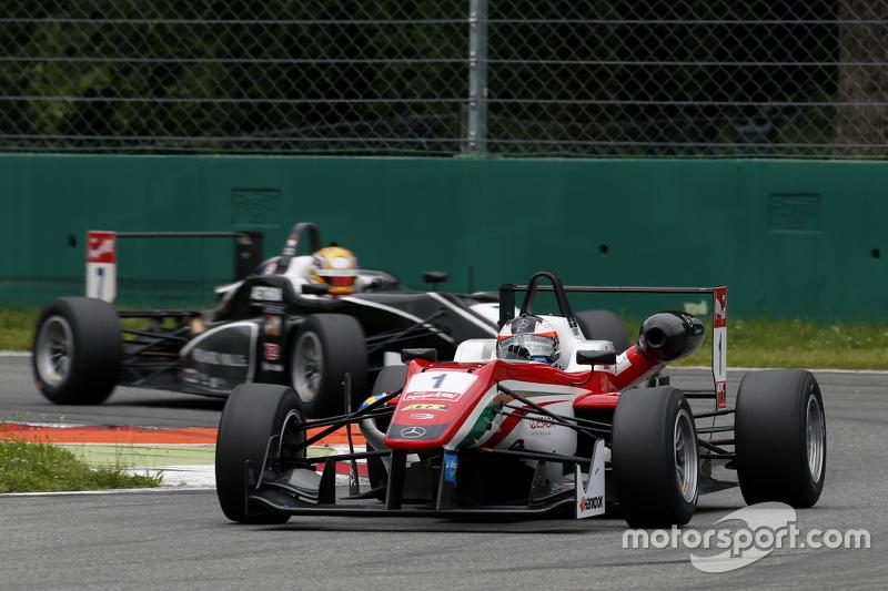 Felix Rosenqvist, Prema Powerteam, Dallara Mercedes-Benz, und Charles Leclerc, Van Amersfoort Racing