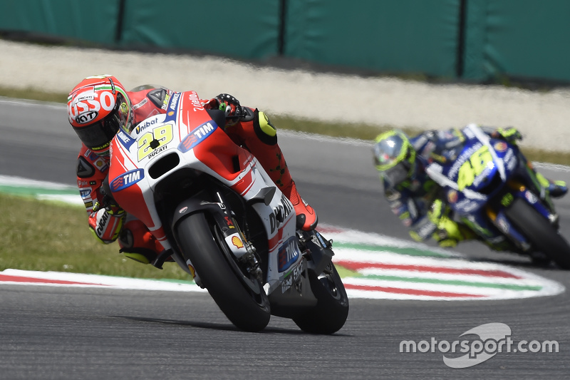 Andrea Iannone, Ducati Team dan Valentino Rossi, Yamaha Factory Racing