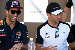 Daniel Ricciardo, Red Bull Racing and Jenson Button, McLaren