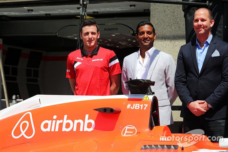 Manor F1 Team stellt airbnb als Sponsor vor