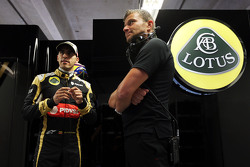 Pastor Maldonado, Lotus F1 Team bersama Fabrizio Maganzi, Personal Trainer