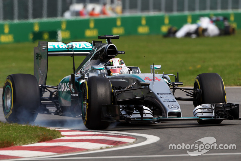 Lewis Hamilton, Mercedes AMG F1 W06, mit Verbremser