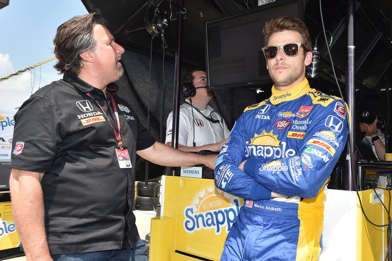 Marco Andretti, Andretti Autosport, Honda, mit Michael Andretti