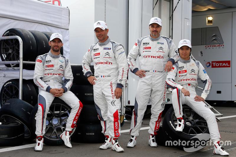 Jose Maria Lopez, Sébastien Loeb, Yvan Muller, Qing-Hua Ma, Citroën C-Elysée WTCC, Citroën World Tou