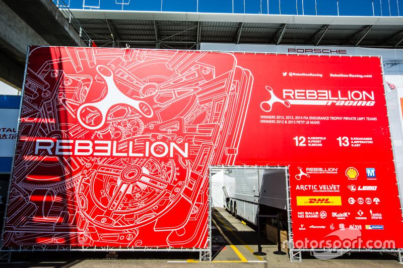 Rebellion Racing logo / signage