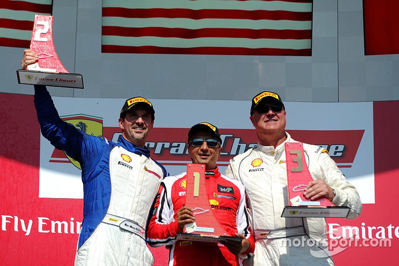 Podium: race winner #8 Ferrari of Fort Lauderdale, second place Marc Muzzo, third place Steve Johnso