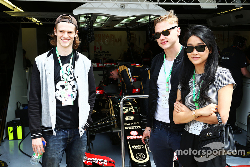 Lotus F1 Team guests, Actor; Ben Hardy, Actor; Lana Condor, Actress