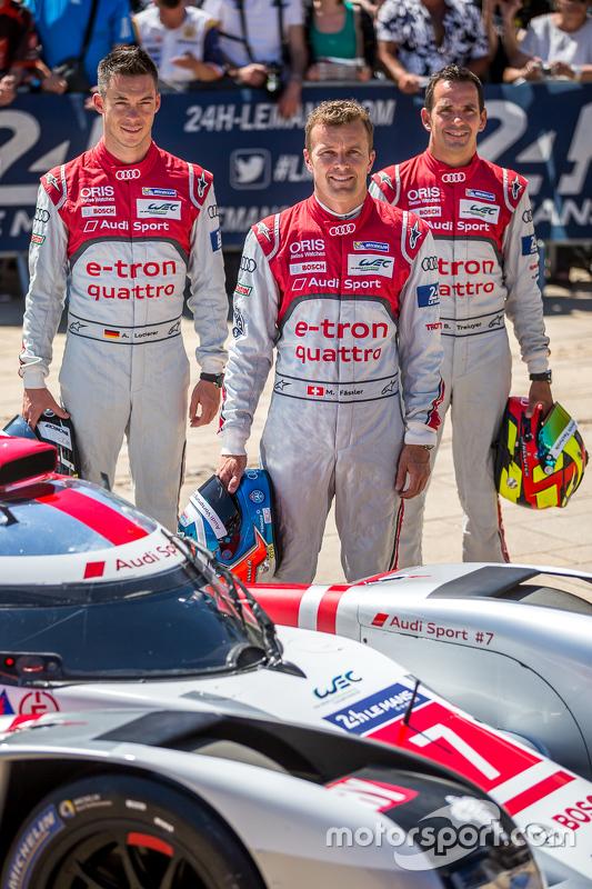 #7 Audi Sport Team Joest Audi R18 e-tron quattro: Марсель Фаслер, Андре Лоттерер, Бенуа Треліє