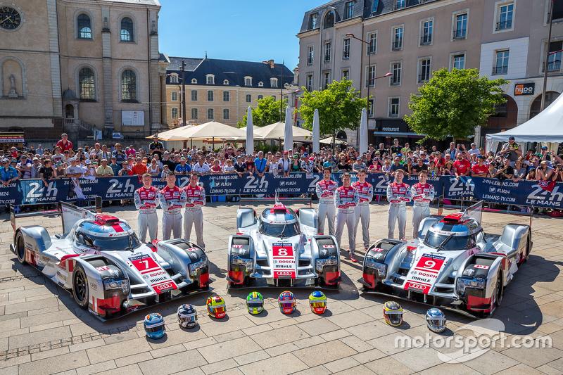 #7 Audi Sport Team Joest Audi R18 e-tron quattro: Marcel Fässler, Andre Lotterer, Benoit Tréluyer da