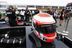 Le casque du Jenson Button, McLaren Honda