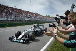 Lewis Hamilton, Mercedes AMG F1 Team takes the win