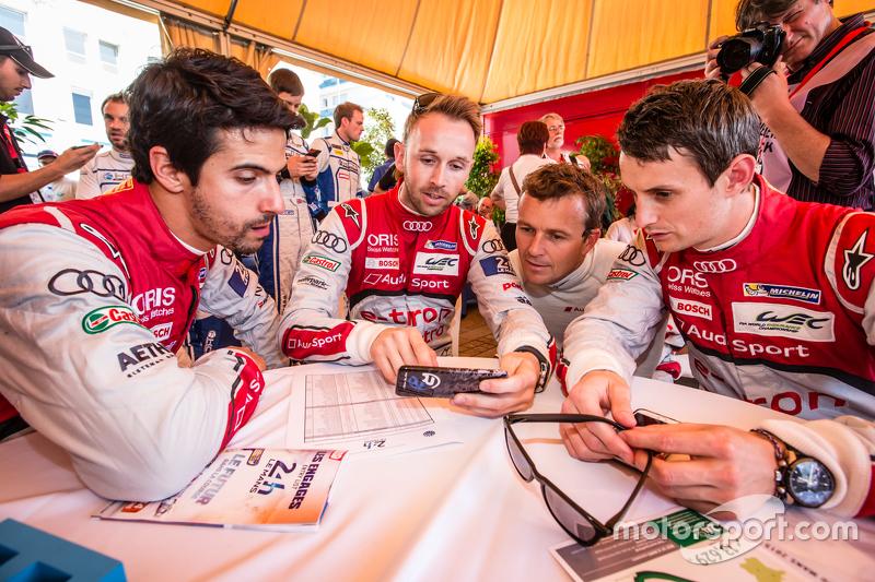 Audi Sport Team Joest: Lucas di Grassi, René Rast, Marcel Fässler und Oliver Jarvis