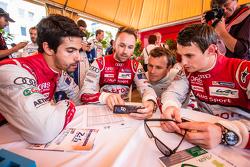 Audi Sport Team Joest: Lucas Di Grassi, René Rast, Marcel Fässler and Oliver Jarvis