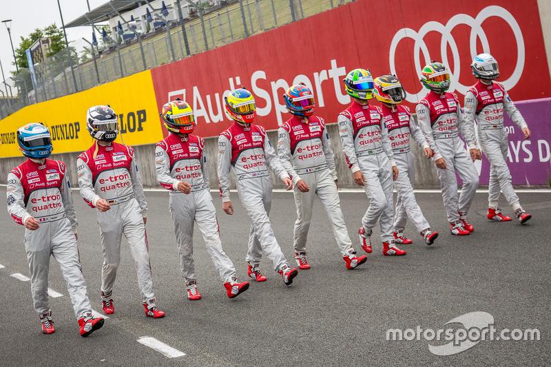 Audi Sport Team Joest: Marcel Fässler, André Lotterer, Benoit Tréluyer, Lucas di Grassi, Loic Duval,