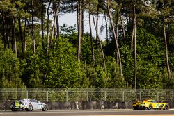 #63 Corvette Racing, Corvette C7.R: Jan Magnussen, Antonio Garcia, Ryan Briscoe und #97 Aston Martin Racing, Aston Martin Vantage GTE: Darren Turner, Stefan Mücke, Rob Bell