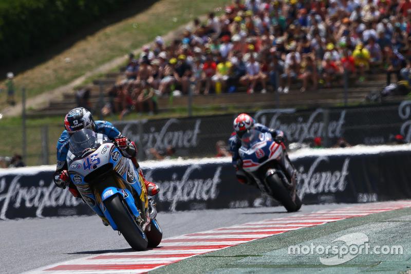 Scott Redding, Marc VDS Racing Honda dan Hector Barbera, Avinitia Racing Ducati