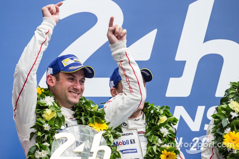 LMP1 podium: class and overall winner Porsche Team: Nick Tandy