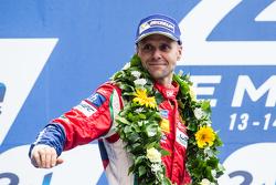 LMGT Pro podium: third place #51 AF Corse Ferrari 458 GTE: Gianmaria Bruni