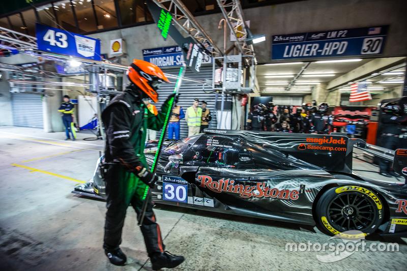Boxenstopp für #30 Extreme Speed Motorsports, Ligier JS P2: Scott Sharp, David Heinemeier Hansson, R