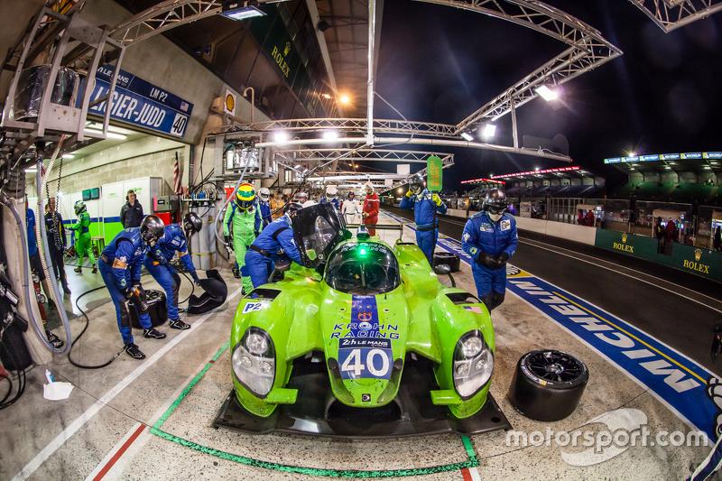 Pit stop untuk  #40 Krohn Racing Ligier JS P2: Tracy Krohn, Nic Jonsson, Joao Barbosa
