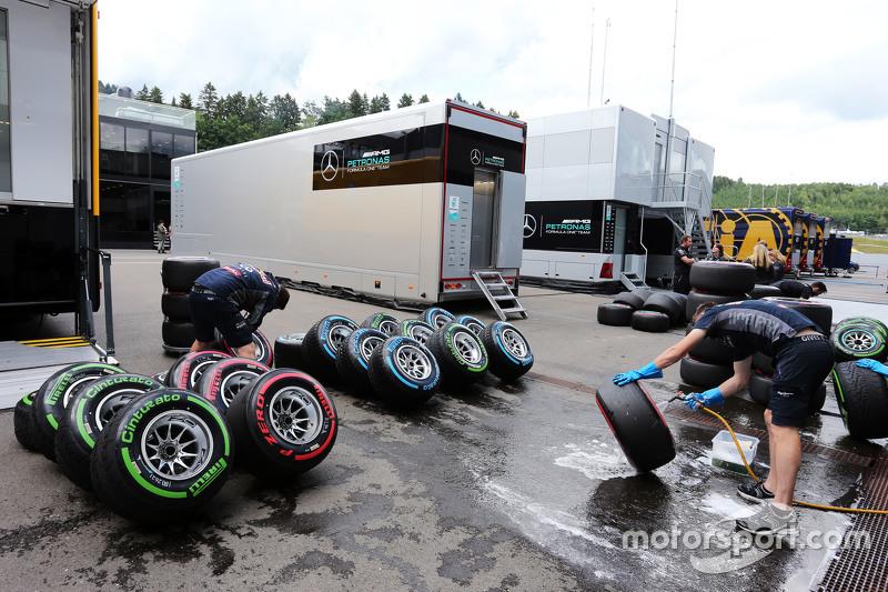Шини Pirelli миються механіками Williams