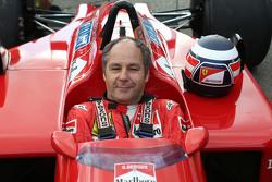 Gerhard Berger, Ferrari F1/87-88C lors de la parade des Légendes
