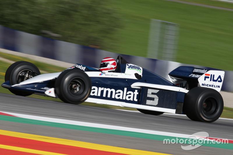 Нельсон Піке в Brabham BT52 на Параді Легенд