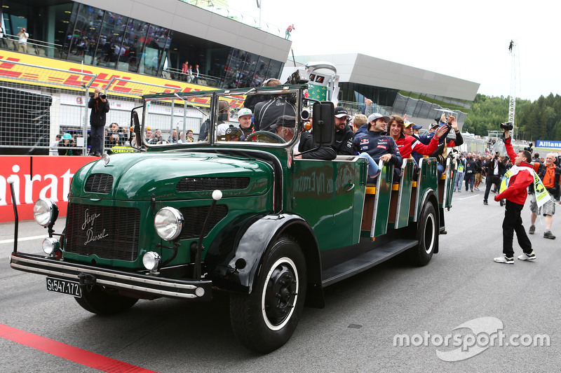 The vehicle used on the drivers parade