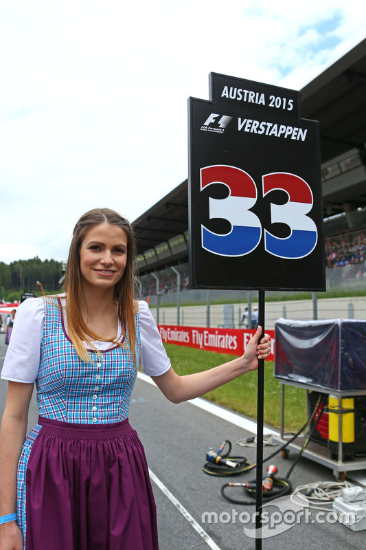 Grid girl for Max Verstappen, Scuderia Toro Rosso