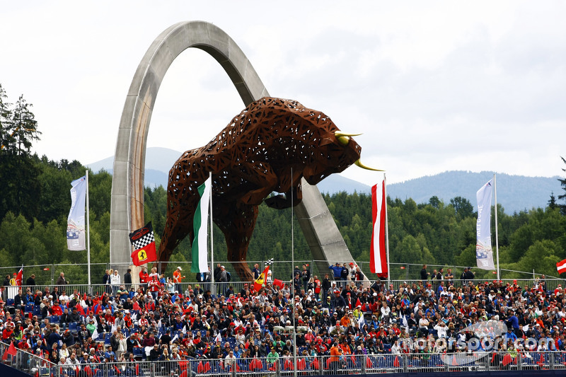 Fans and the Red Bull Iron Work