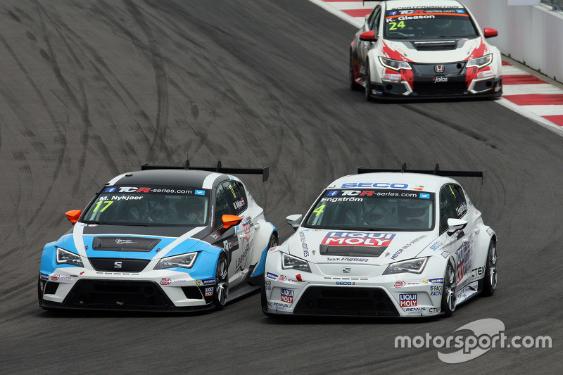 Михел Нюкьєр, SEAT Leon, Target Competition, Томас Енгстрем, SEAT Leon, Liqui Moly Team Engstler та Кевін Глісон, Honda Civic TCR, West Coast Racing