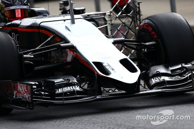 Pascal Wehrlein, Sahara Force India F1 VJM08 Test Driver front wing detail