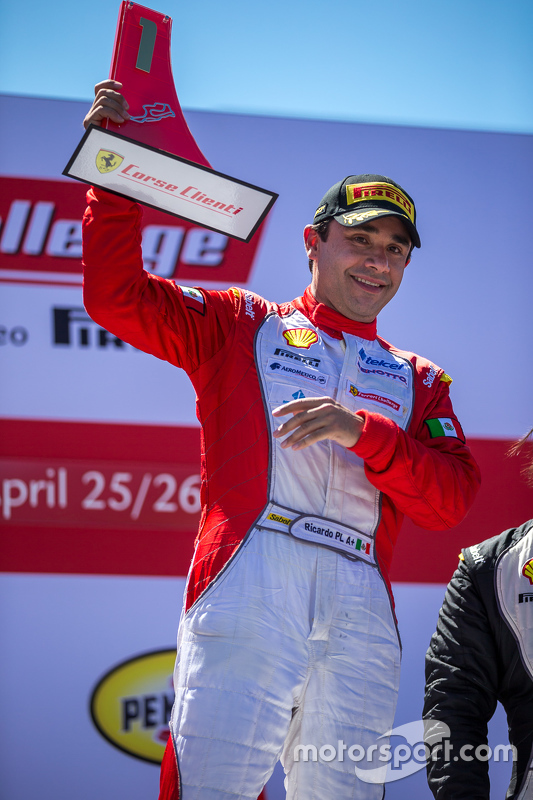 Podium: Race winner #1 Ferrari of Houston Ferrari 458: Ricardo Perez