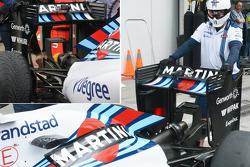 Williams, neuer Flügel mit alten Anbauteilen