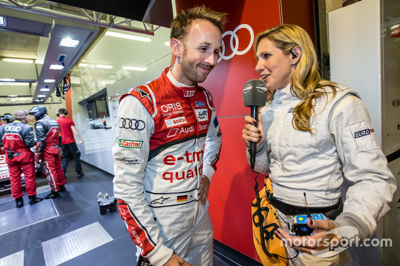 #9 Audi Sport Team Joest Audi R18 e-tron quattro: Рене Раст interviewed by Liz Halliday