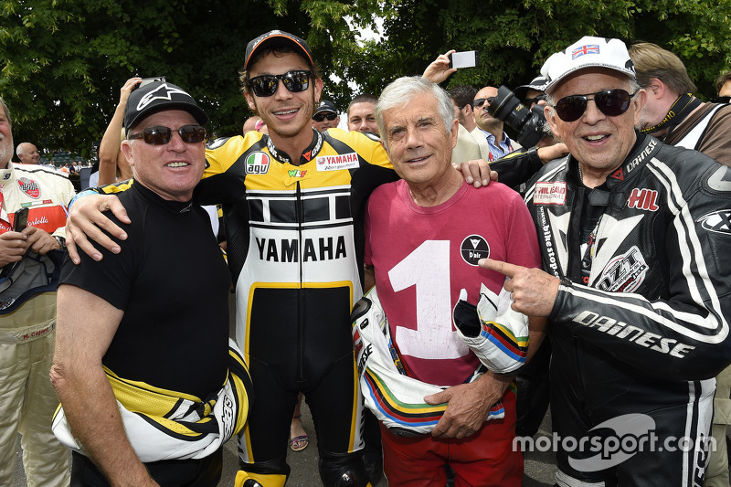 Kenny Roberts and Valentino Rossi, Yamaha Factory Racing and Giacomo Agostini