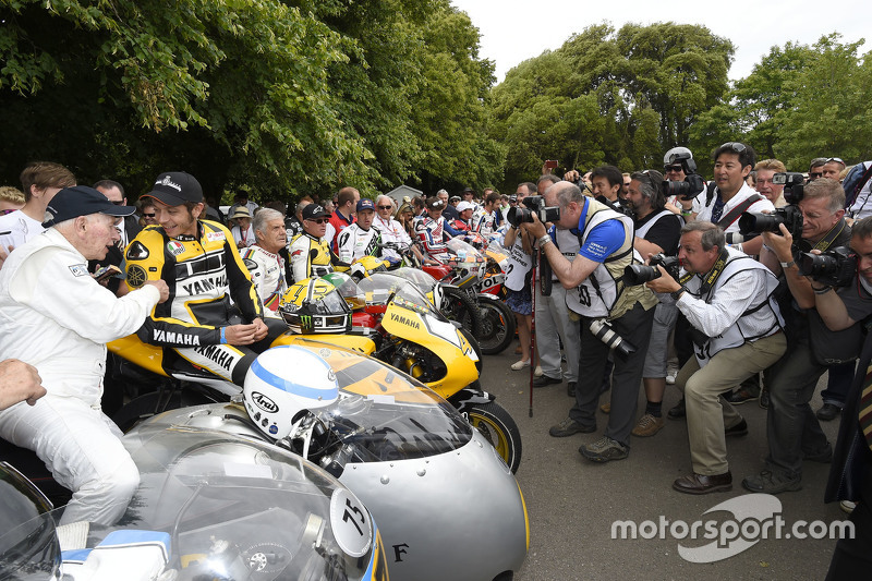 John Surtees and Valentino Rossi, Yamaha Factory Racing