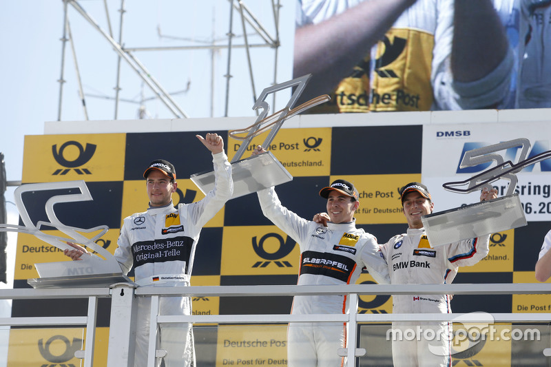 Podium, 2nd Christian Vietoris, HWA AG Mercedes-AMG C63 DTM, 1st Robert Wickens, HWA AG Mercedes-AMG