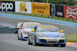 #36 Strategic Wealth Racing, Porsche Cayman: Matthew Dicken, Corey Lewis