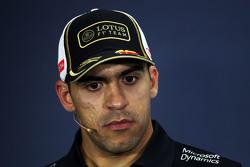 Pastor Maldonado, Lotus F1 Team na coletiva de imprensa da FIA