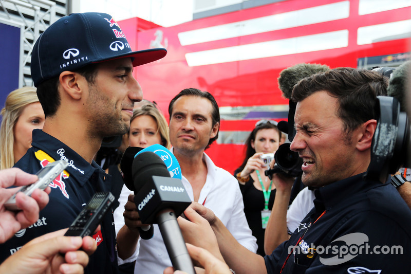 Daniel Ricciardo, Red Bull Racing with the media.