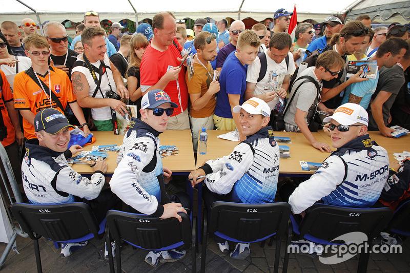 Daniel Barrit, Elfyn Evans, Molder Raigo, Ott Tänak, M-Sport