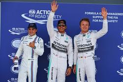 Felipe Massa, Williams and Lewis hamilton and Nico Rosberg, Mercedes AMG F1