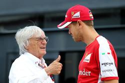 Bernie Ecclestone, dan Sebastian Vettel, Scuderia Ferrari