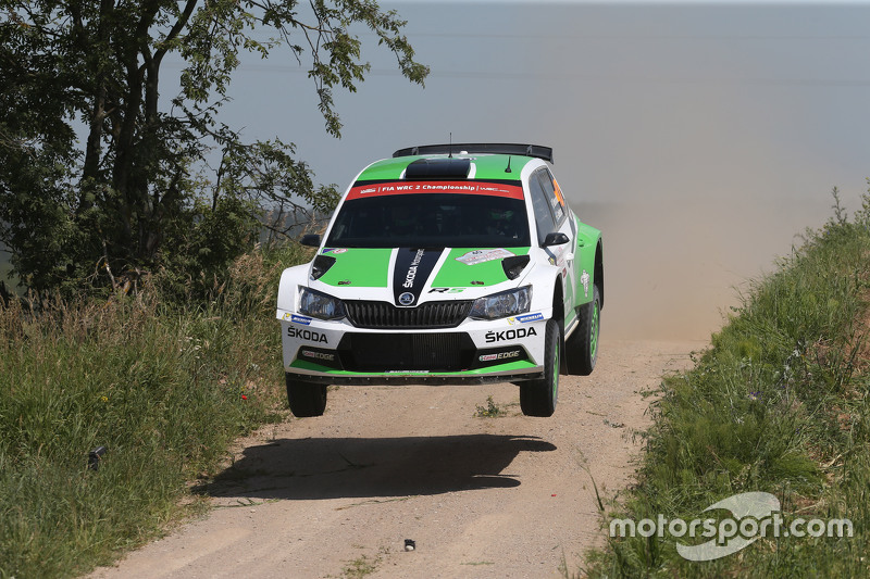 Pontus Tidemand and Emil Axelsson, Skoda Motorsport Skoda Fabia R5