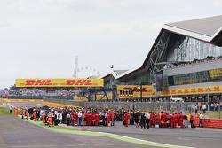 De grid voor de start