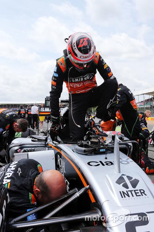 Nico Hulkenberg, Sahara Force India F1 VJM08 di grid